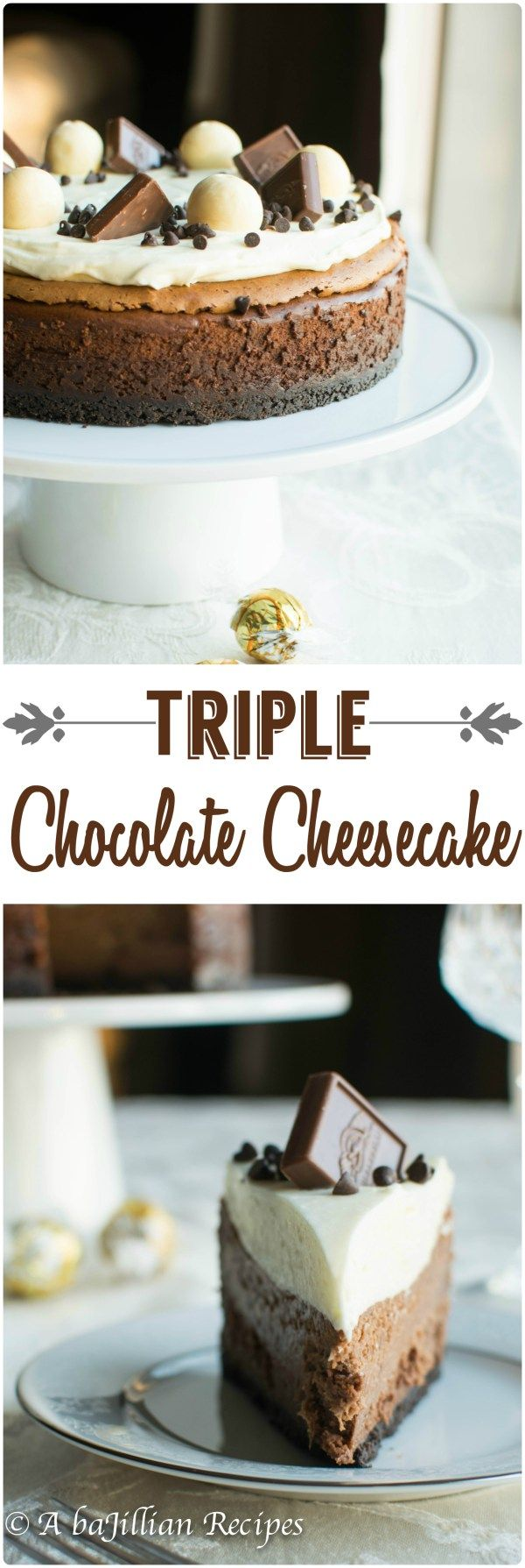Triple Chocolate Cheesecake1