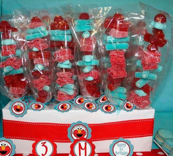 Printable Favor Tag  Elmo Birthday Party Line  by StickToYourStory, $5.50