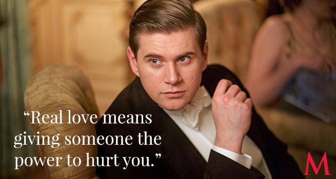 Downton Abbey Season 6 Episode 5 ..Allen Leech  Branson, newly-born as a font of endearment axioms, knows of which he speaks!..