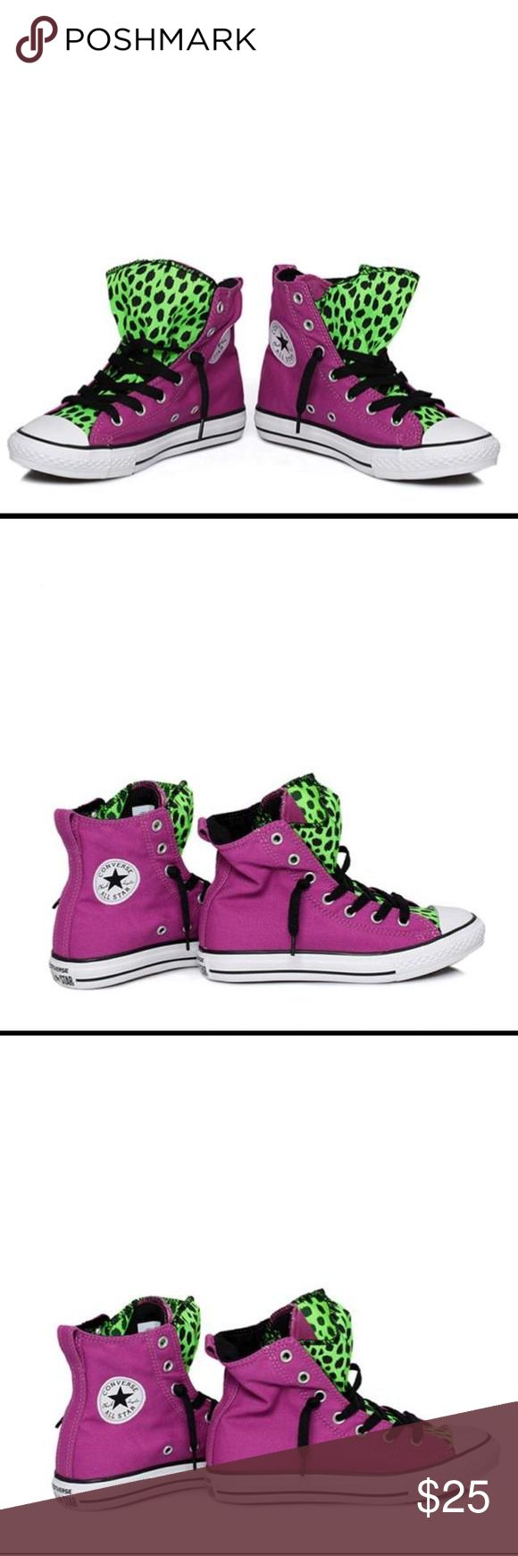 Editors Pick  Youth Converse Chuck Taylor Youth Converse Chuck Taylor Party High Top Vivid Viola 640541F Size 4 Brand New  If youre too lazy for lace-ups, the Converse Party junior sneaker trainers are the answer. Part of Converses Slip On collection, Converse Party has a full length leopard print cover while the tongue is fixed to an elasticated the easiest slip-on fitting Converse has had yet. Converse Shoes