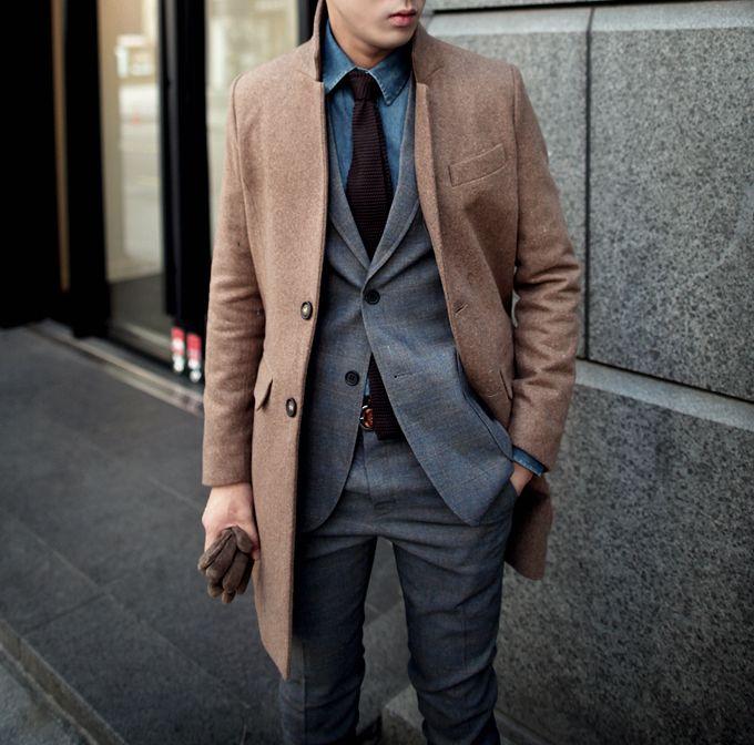 #Coat #Gloves #Gentleman
