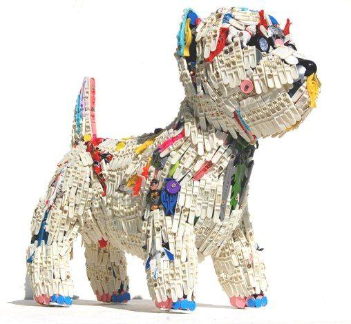 Robert Bradford 3D plastic sculptures (westie)
