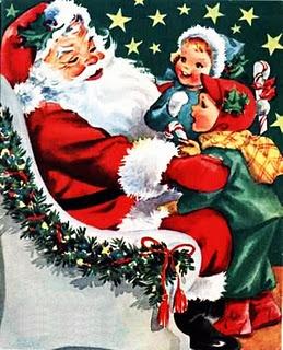 Vintage Christmas graphic.