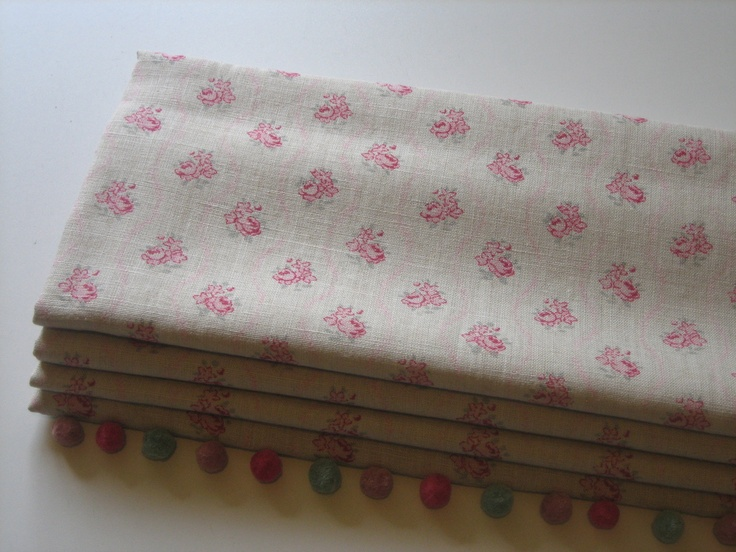 Roman blind in Kate Forman Agatha fabric with a lovely Susie Watson trim