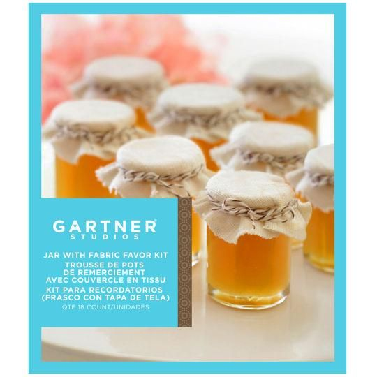 Gartner Studios Jars With Fabric Covers - Party Favors