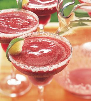 Triple-Berry Margaritas-taste like a smoothy, but have plenty of alcohol. Delish!