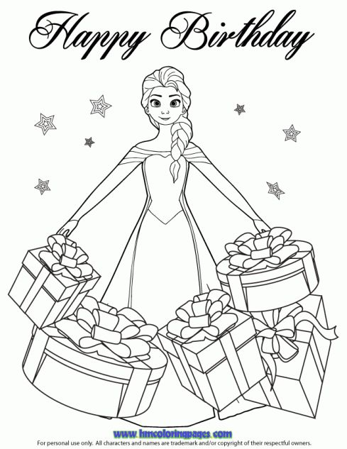disney themed birthday coloring pages - photo#11