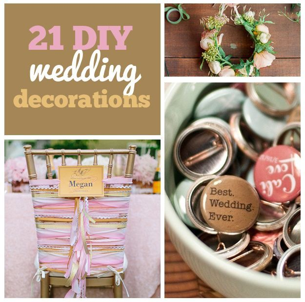 Weddings on a budget: http://tips-wedding.com/weddings-on-a-budget/ Create a fairy tale wedding on a budget with these DIY decorations: http://bzfd.it/ZZFvbf