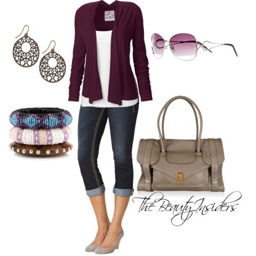 Best 25+ Jean capri outfits ideas on Pinterest | Capri outfits Womens fashion outfits and ...