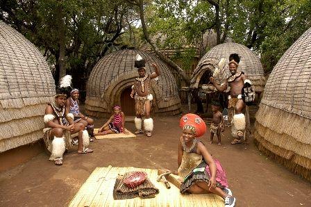 Zulu huts, Lesedi Cultural Village