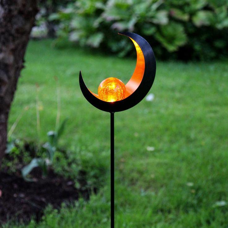Premium LED Solarleuchte Mond / Schwarz 52178
