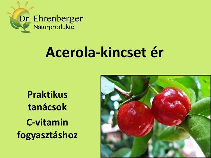 http://www.dr-ehrenberger.hu/acerola-kincset-er/ Acerola kincset ér by edmond51 via slideshare acerola, dr-ehrenberger, C-vitamin, antioxidáns, C-vitamin kapszula, vérszegénység, cukorbetegség, koleszterinszint, reuma, vérzéscsillapítás, vas, A-vitamin, thiamin, riboflavin, magnézium, kollagén termelődés, természetes gyógymód, természetes gyógyhatás,