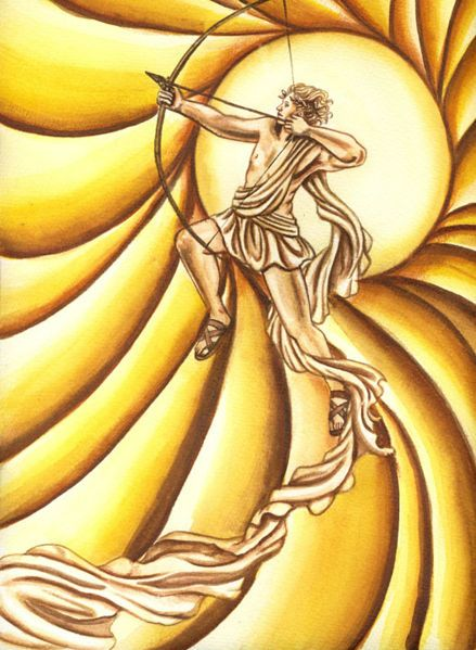 Apollo-A many-talented Greek god of prophecy, music, intellectual pursuits, healing, plague, and sometimes, the sun.