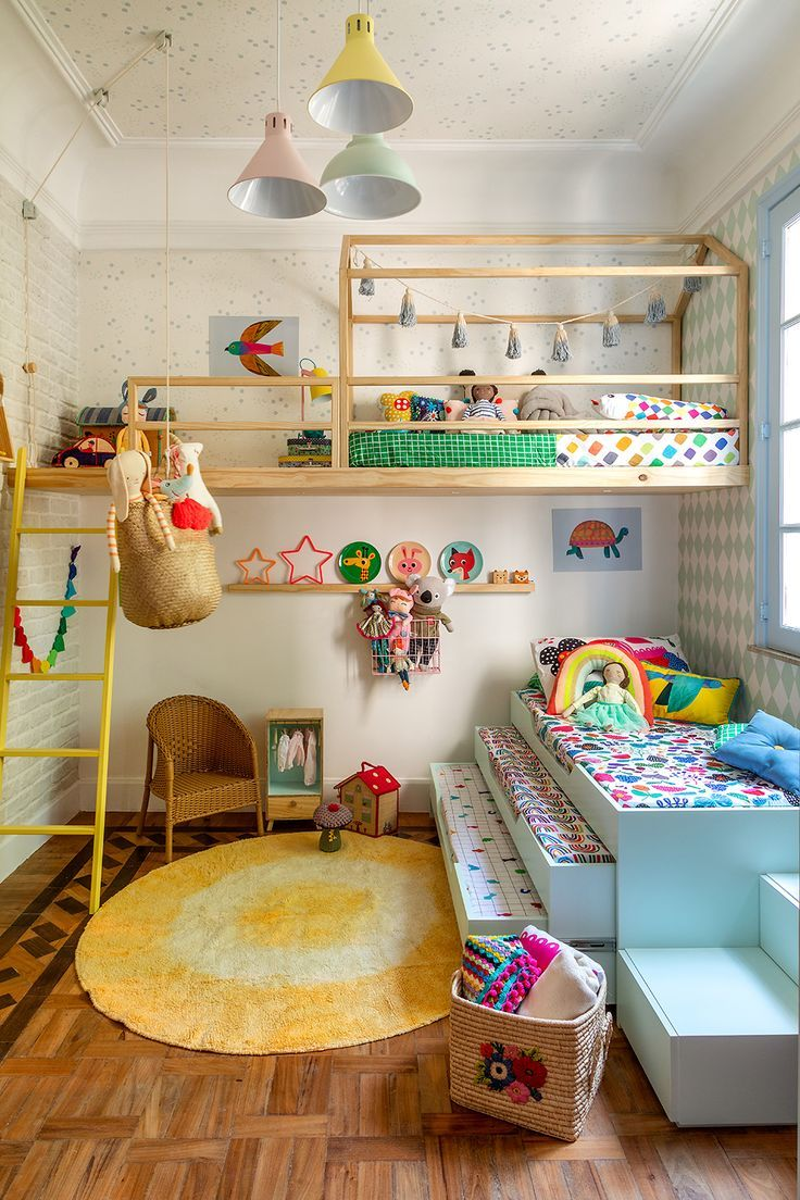 lofted play area with extra space
