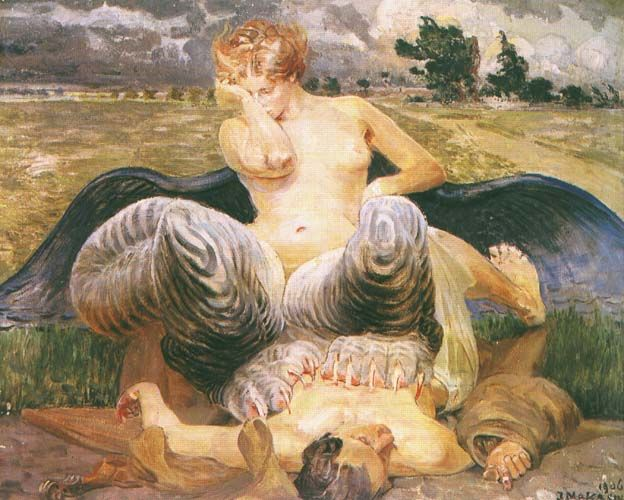 Artist and Chimera by Malczewski