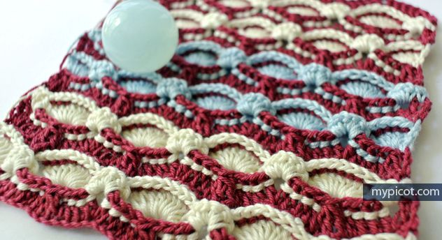 Crochet Textured Stripes Stitch Diagram + step by step instructions