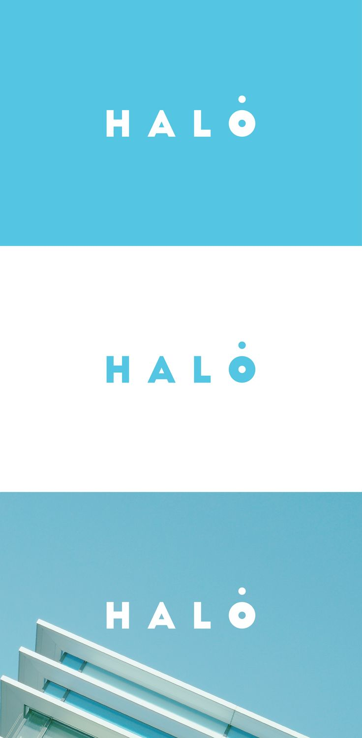 This ultra clean and minimalist logo mark is based on the creative and playful typographic exploration of the brand name (HALO).