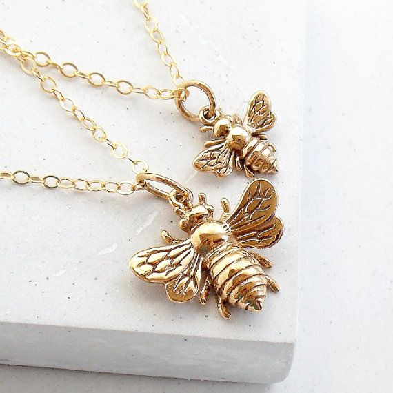 Abeille grand collier Collier de la Reine par RubyLenaJewelry