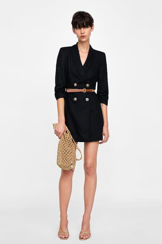 VESTIDO BLAZER CINTURÓN   Dress   Blazer dress, Dresses et Blazer ... 69c04c91693