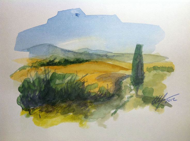 www.art-and-travel.ru Toscana. watercolor
