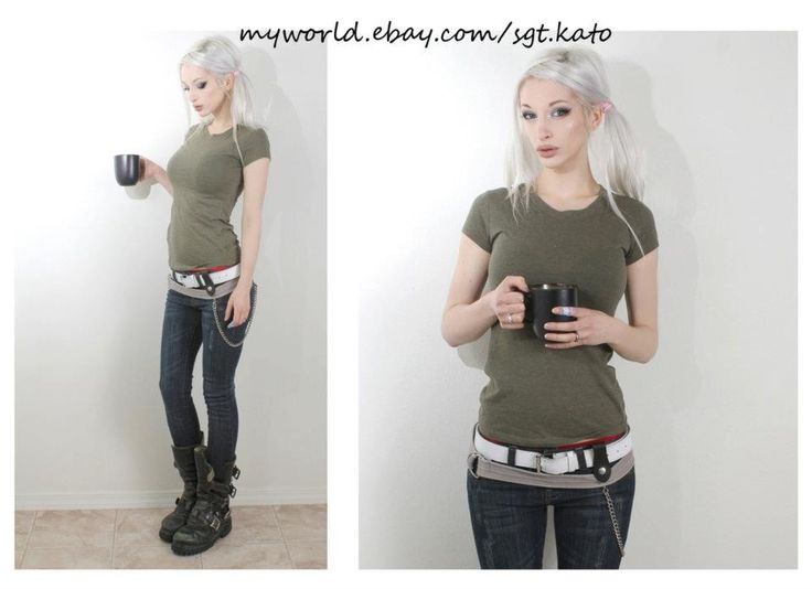 you can never go wrong with army green. casual outfit