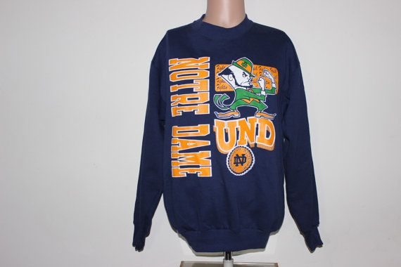 Vintage Notre Dame Fighting Irish NCAA by SouthsideThrowbacks  #vintage #crewneck #fashion #notredame