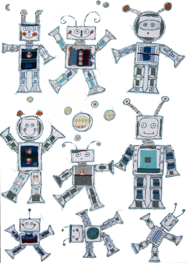 robots!! the middle left one would be a cute photo opp cutout