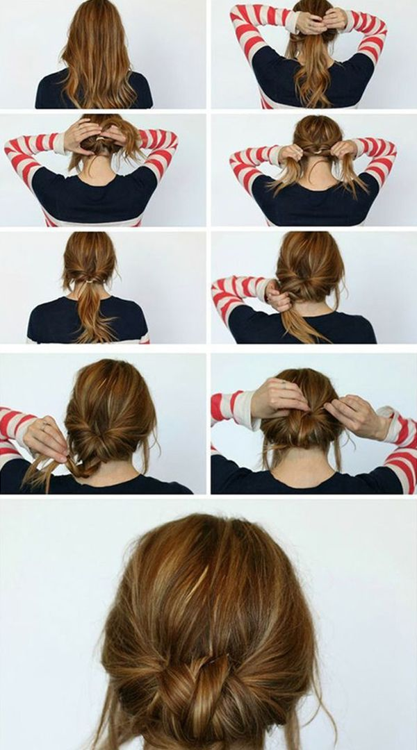 Tutorial on how to make a low looped bun in a busy morning