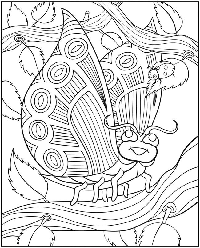 wonder wings butterfly colouring book page 3 of 4 - Butterfly Color Page 3