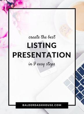 Create the best listing presentation in 9 stepsDonna Jennings – Realtor