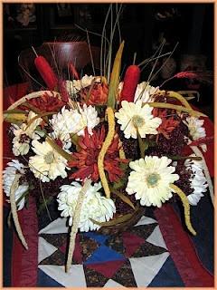 Fall Silk Floral Arrangement by Linda Walsh