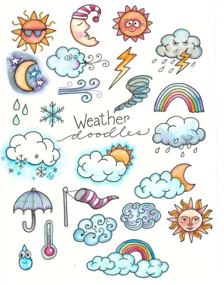 Weather Doodles, Perfect for your Journal