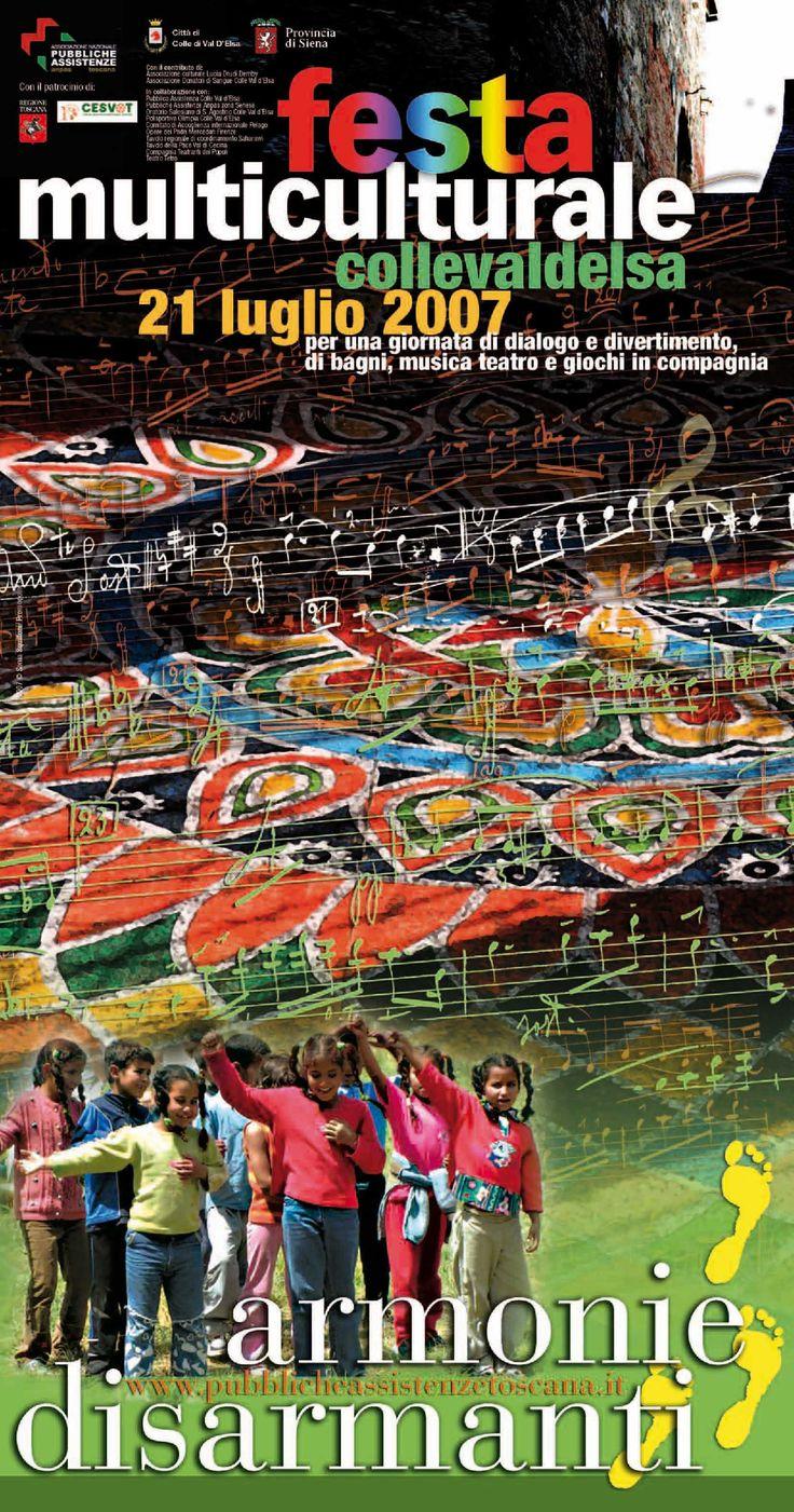 Pieghevole locandina realizzato da Sonia Squilloni per Anpas Toscana 2007