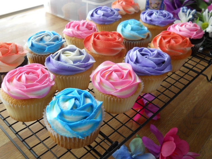 Yumm...the rosy cupcakes