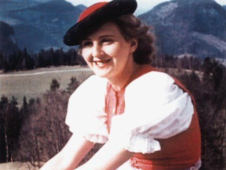 "Eva Braun words from her dairy ""yesterday he came quite unexpectedly and we had a delightful evening"" 18 Feb 1935"