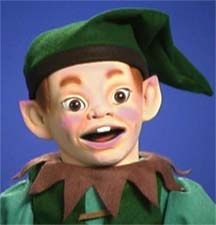 Elf ventriloquist puppet by Axtell Expressions.