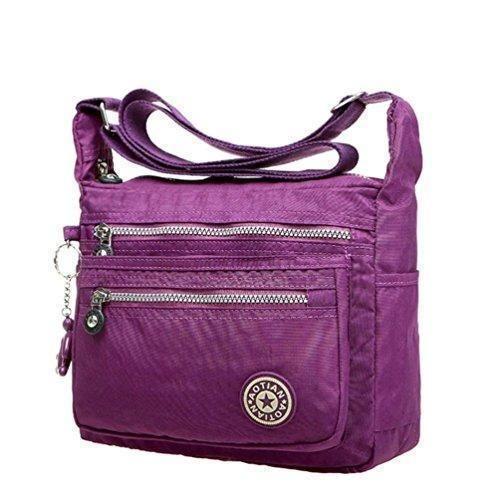 Oferta: 8.94€. Comprar Ofertas de LHWY Bolsas de Mensajero de Nylon Impermeable Para Mujer (Púrpura) barato. ¡Mira las ofertas!