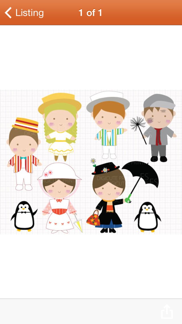 Mary poppins cupcake toppers