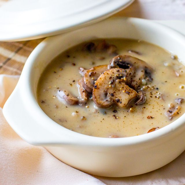 Mushroom and beef soup - I omit the wild rice, but it's an incredible, creamy mushrooms soup.  Roast the beef bones to make broth, and it's perfect.  Thanks to Kerry for the link, and for making me realise that I really do like soup when it's good soup!