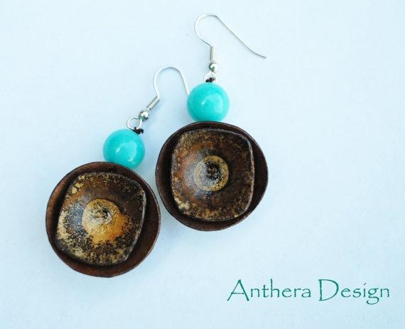 Rustic Earrings Womens Jewelry Handcrafted from by AntheraDesign, $19.99: Jewelry Handcrafted, Women Jewelry, Woman Jewelry