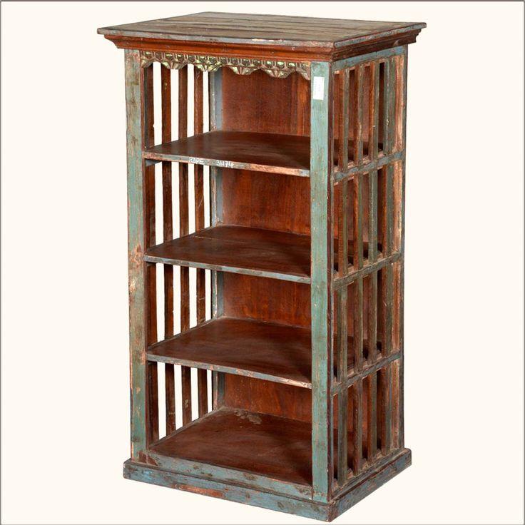 "Rustic Jail Bar #ReclaimedWood 45"" Tall Open #Bookcase Curio #interiors #contemporaryfurniture #homedecor #furniture #homeinspiration   http://www.sierralivingconcepts.com/"