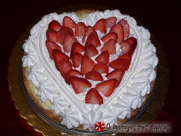Η πιο ωραία και τραγανή τάρτα φράουλας #sintagespareas #tarta #fraoules