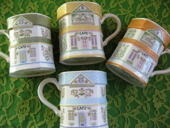 Lenox Village Coffee Mugs Discontinued Set of 4 by ChinaGalore, $64.00