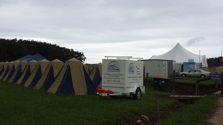 Tent Village by Byron Bay Camping Hire, next to the general store at Falls Festival Byron Bay 2014.