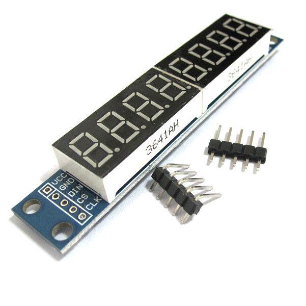 1ピース/ロット、max7219 ledモジュール8桁7セグメントデジタルled表示管mcu