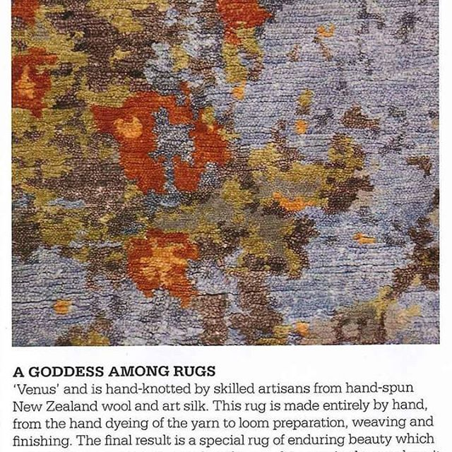 "Our ""Venus"" really is a Goddess among rugs! HOME New Zealand http://sourcemondial.co.nz/product/venus-2/ #venus #rugs #rugdesign #artsilk #silkblends #silkwool"