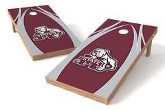 Mississippi State Bulldogs Single Cornhole Board - The Edge