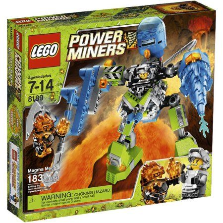 Power Miners Magma Mech Set Lego 8189, Multicolor