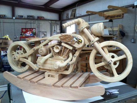 38 best wooden motorcycle rocker images on pinterest for Woodworking plan for motorcycle rocker toy