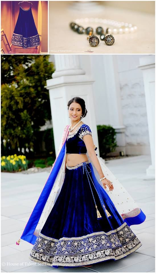 Royal blue seems to be the color of preference lately for weddings :P loving the bride's outfit :)
